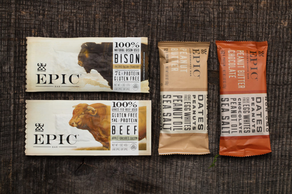 EPIC bar makes their snack bar packaging design stand out from competitors.